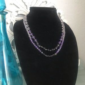 White House Black Market Purple Beaded Necklace